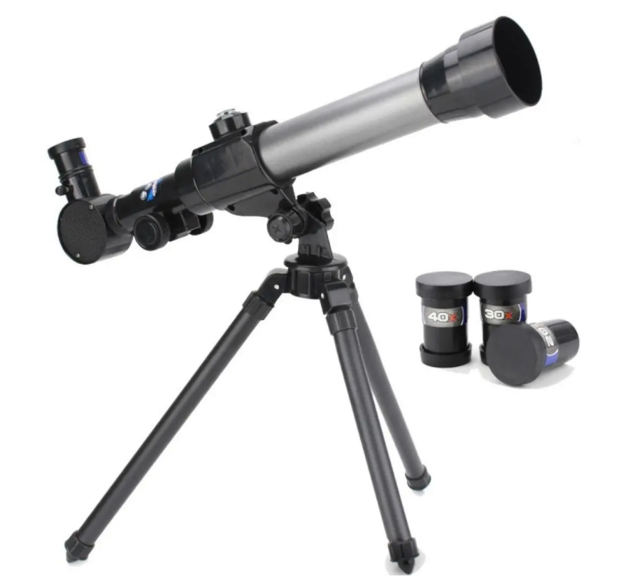 Educational telescope with 3 eye pieces