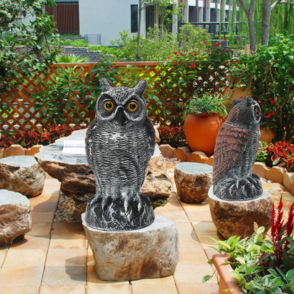 outdoor owl statue lawn ornament