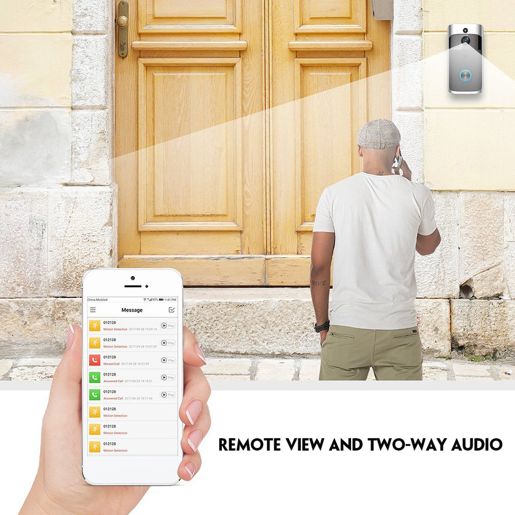 Smart Doorbell system providing remote view and two-way audio with whoever is at your door.