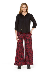 SARITA FLARE COTTON PANTS
