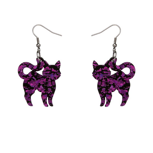 PUSSY CAT DROP EARRINGS