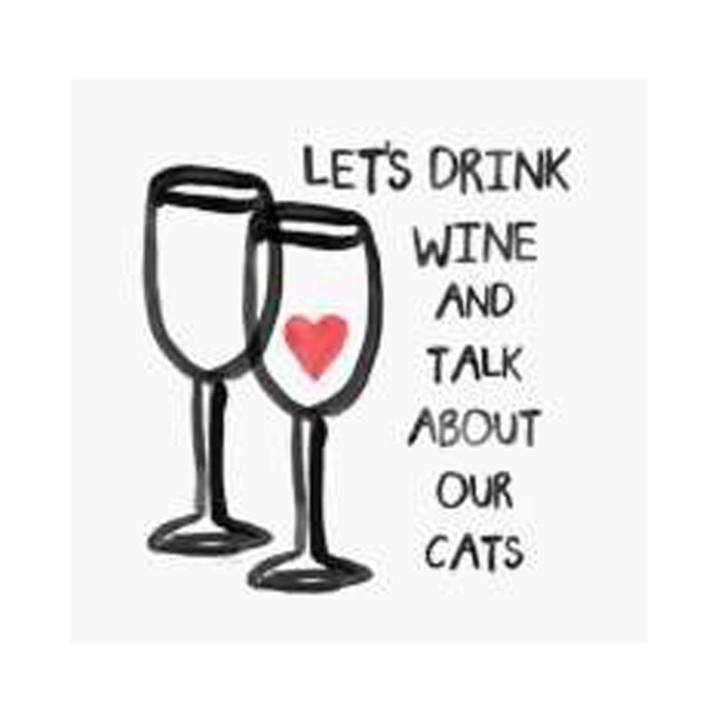 WINE AND CATS COASTER