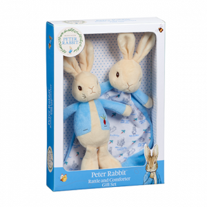PETER RABBIT RATTLE COMFORT BLANKET