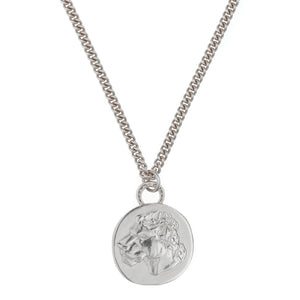 LIONESS COIN ON CHUNKY CURB CHAIN