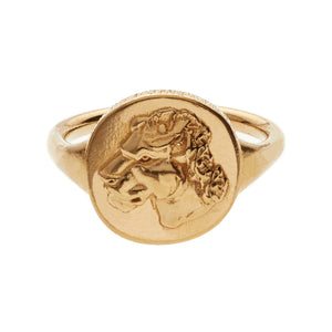 LIONESS COIN RING