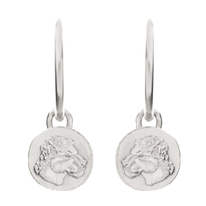 HOOP LIONESS COIN EARRINGS