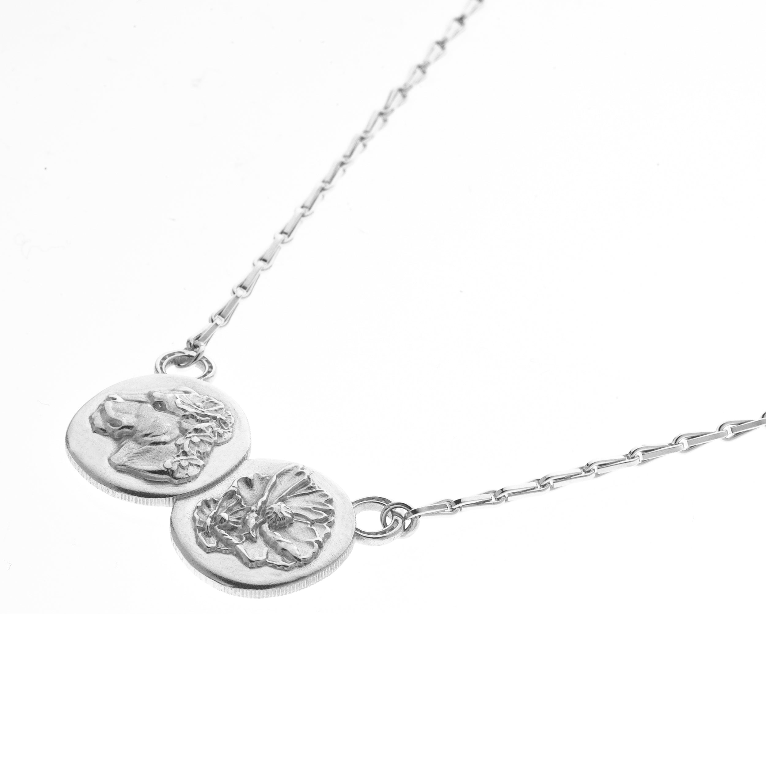 LIONESS DOUBLE COIN PENDANT