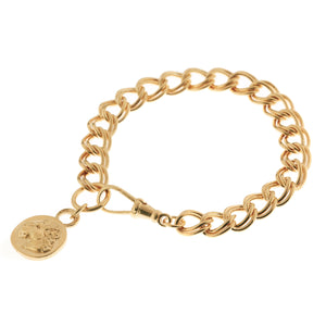 DOUBLE CURB CHAIN LIONESS BRACELET
