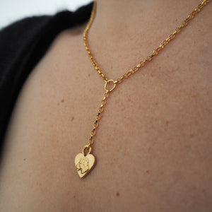 LIONESS HEART DROP PENDANT