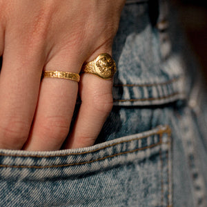 STACKED RING BUNDLE - BAND & SIGNET