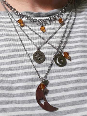 space charm layered necklaces neckmess