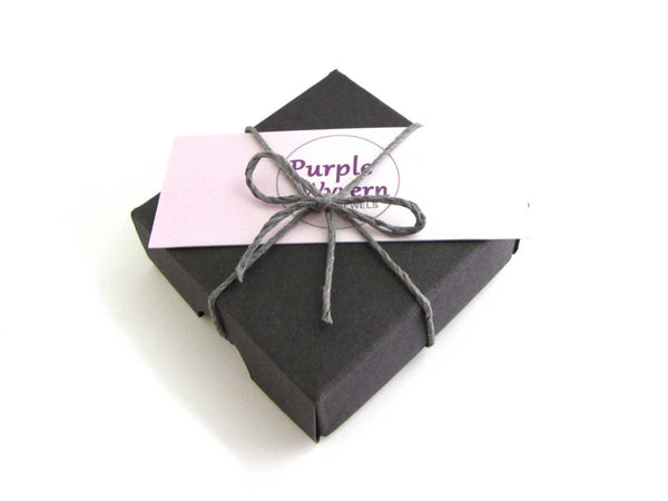 black gift box with business card