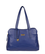 'Liana' Mazarine Blue Leather Handbag