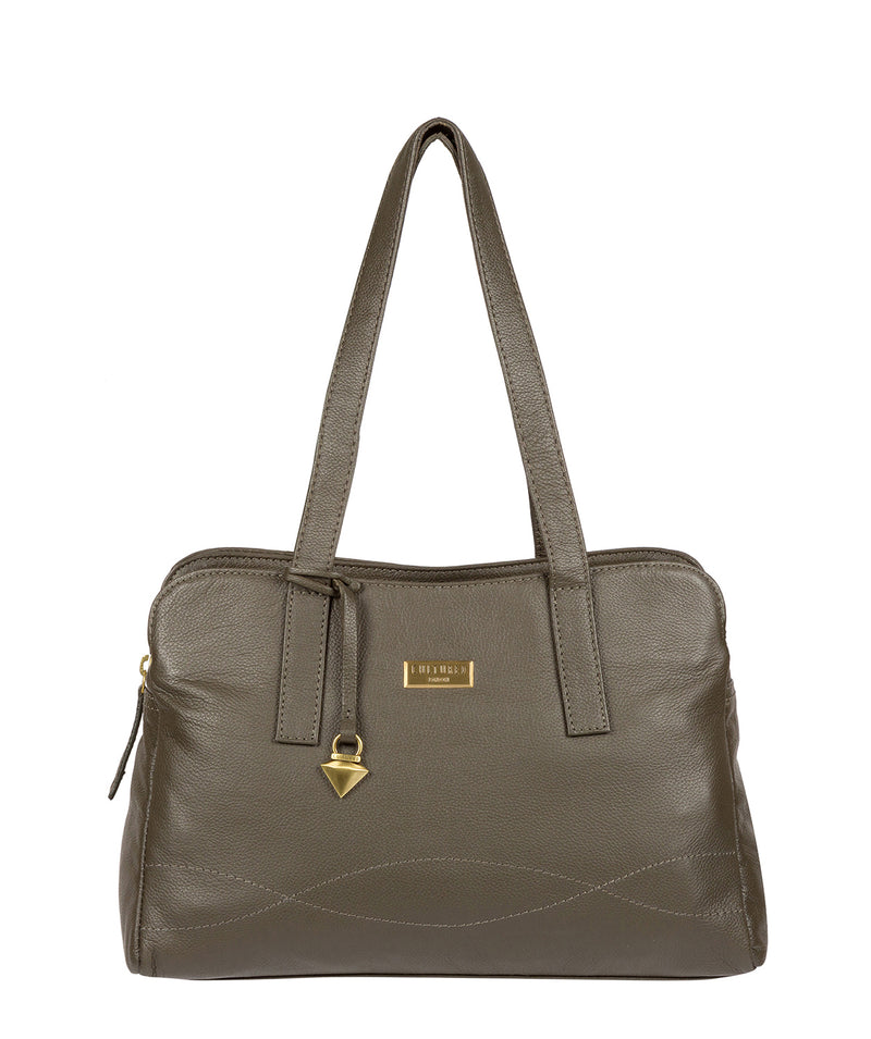 'Liana' Olive Leather Handbag