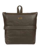 'Jada' Olive Leather Backpack