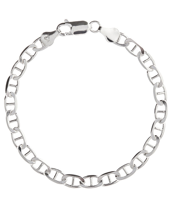 Gift Packaged 'Alex' Sterling Silver Flat Chain Bracelet