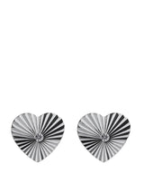 'Monroe' Silver Heart & Cubic Zirconica Stud Earrings