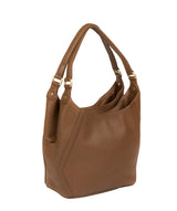 'Somerby' Tan Leather Shoulder Bag