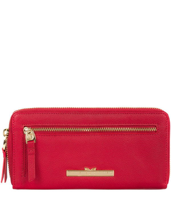 'Starling' Barbados Cherry Leather Bi-Fold Purse