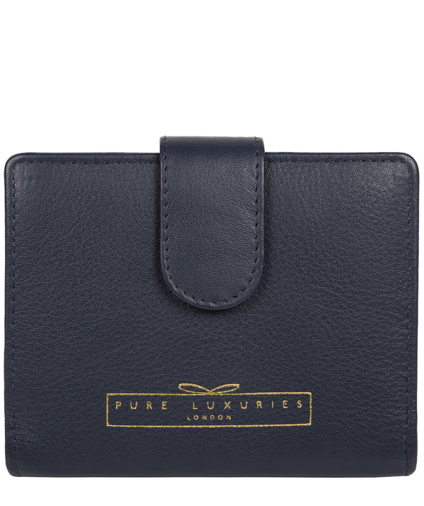 'Maple' Midnight Navy Leather RFID Purse