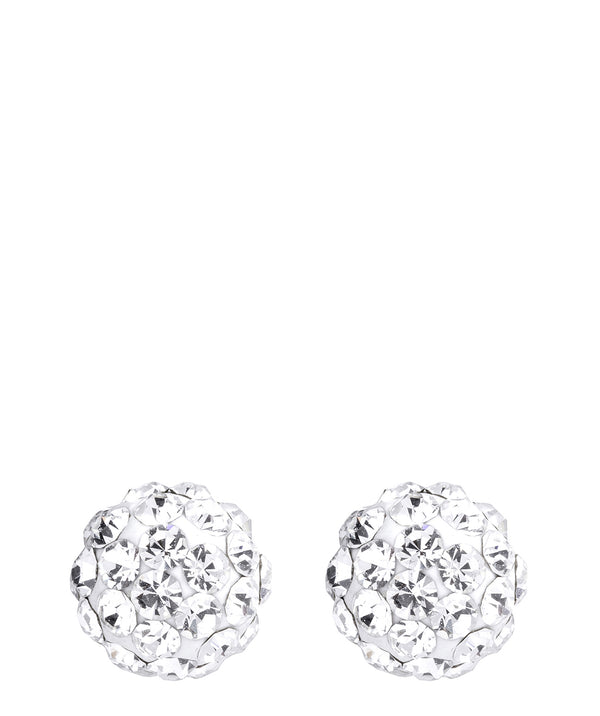 Gift Packaged 'Ercilia' Sterling Silver Crystal Globe Earrings