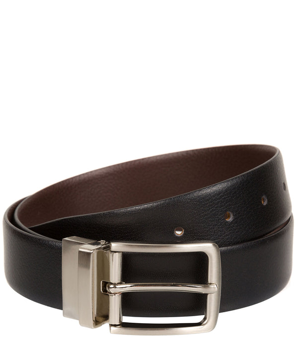 Black and Brown Reversible Pure Luxuries Leather Men's Belt