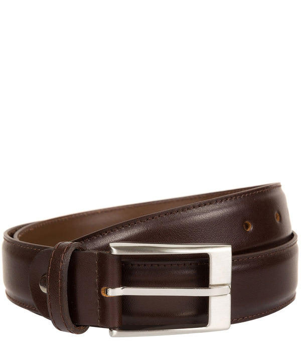 Dark Brown Pure Luxuries Leather Men's Belt