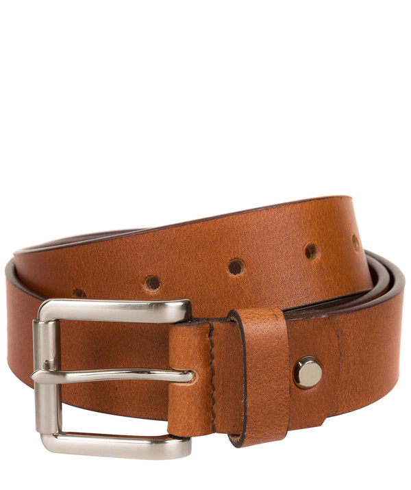 Tan Pure Luxuries Leather Men's Belt