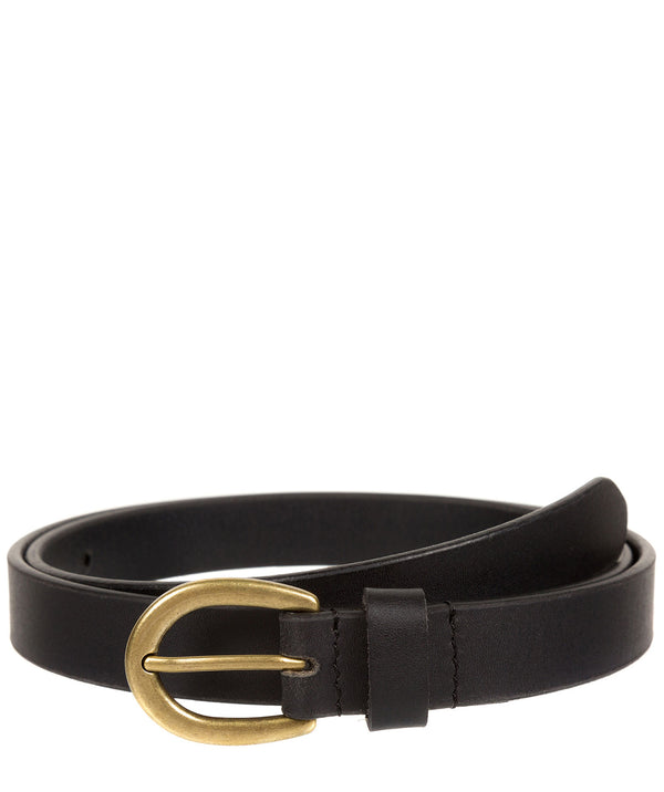 Black Quality Leather Ladies' Belt