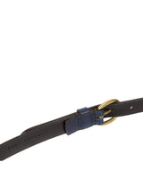 Navy Quality Leather Ladies' Belt