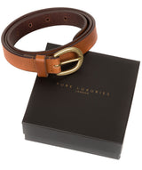 Tan Quality Leather Ladies' Belt