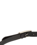 Black Genuine Leather Ladies' Belt