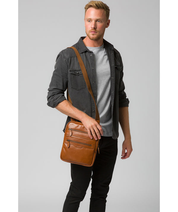 'Hoya' Chestnut Leather Cross Body Bag image 2