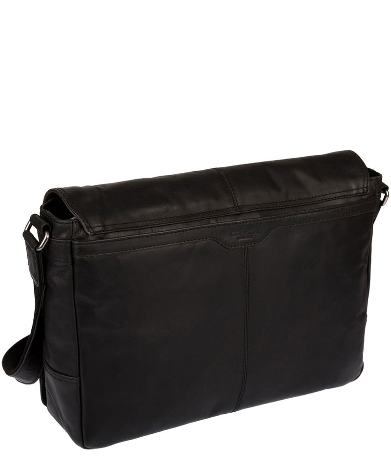 'Bermondsey' Black Leather Messenger Bag