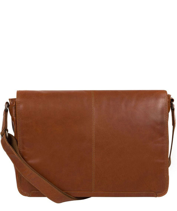 'Bermondsey' Chestnut Leather Messenger Bag