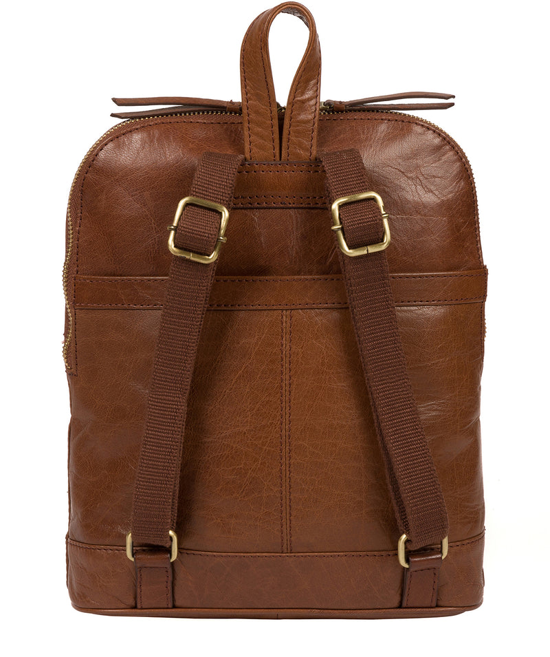 'Francisca' Conker Brown Leather Backpack image 3