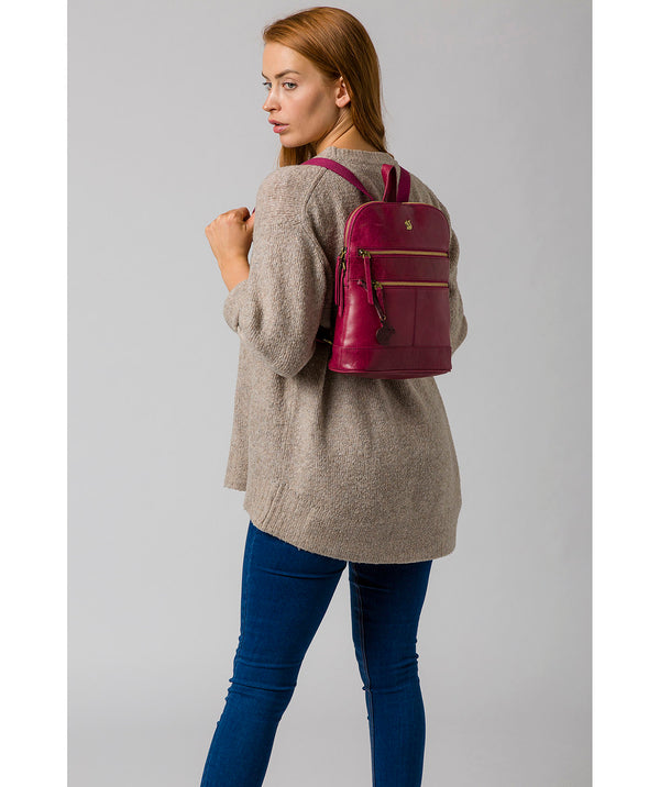'Francisca' Orchid Leather Backpack Pure Luxuries London