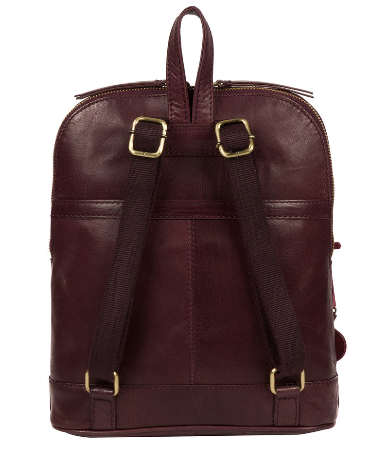 'Francisca' Plum Leather Backpack image 3