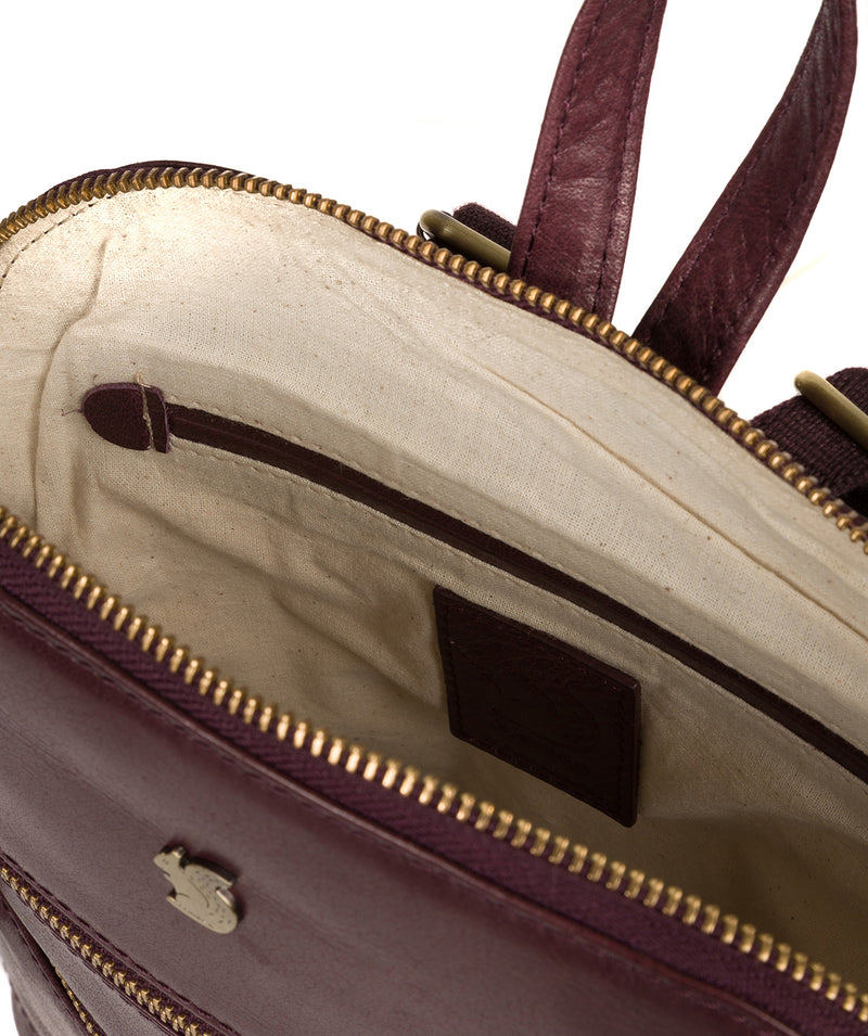 'Francisca' Plum Leather Backpack image 4