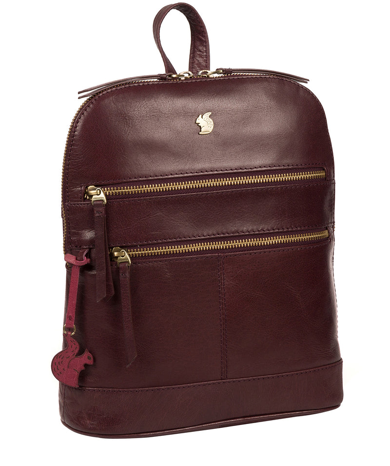 'Francisca' Plum Leather Backpack image 5