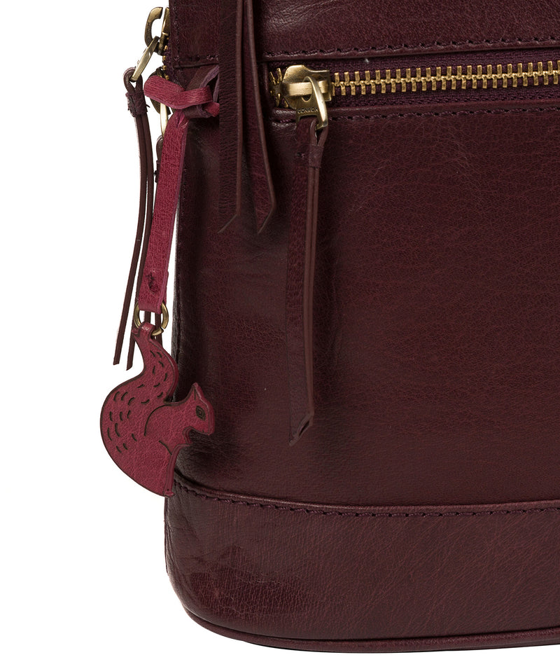 'Francisca' Plum Leather Backpack image 6
