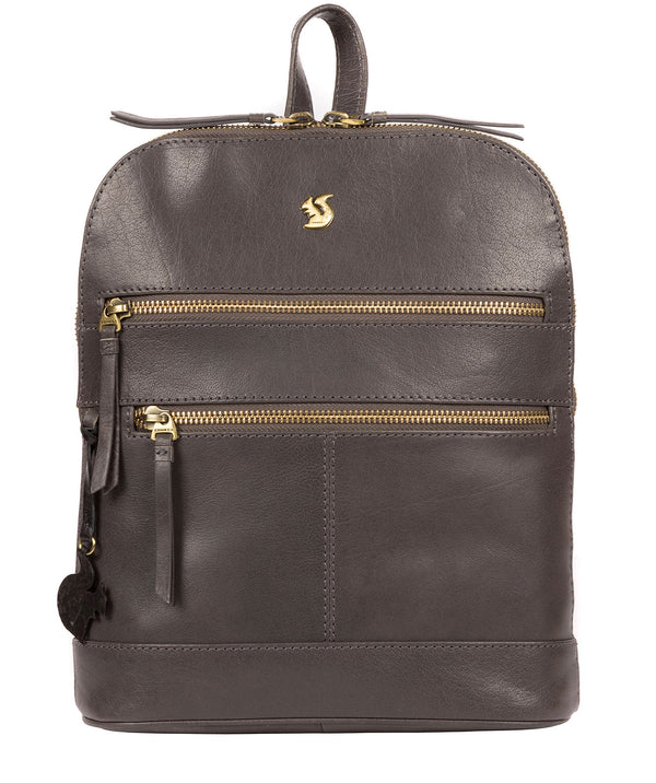 'Francisca' Slate Leather Backpack image 1