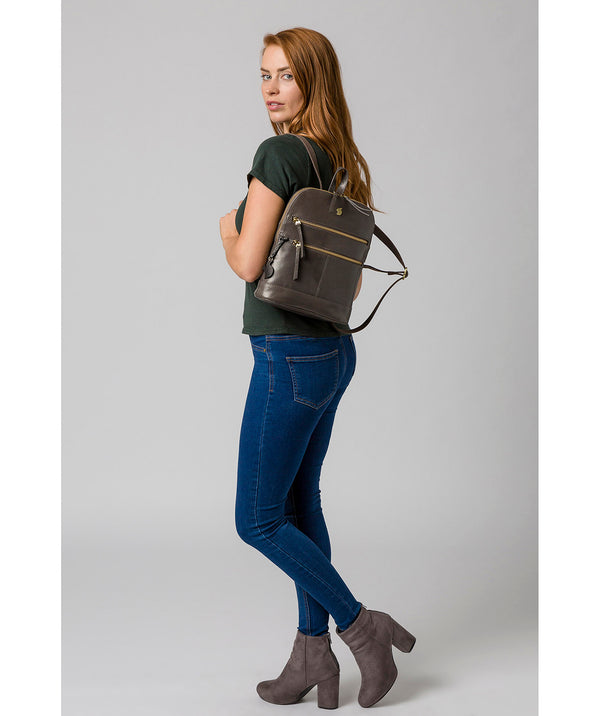 'Francisca' Slate Leather Backpack image 2