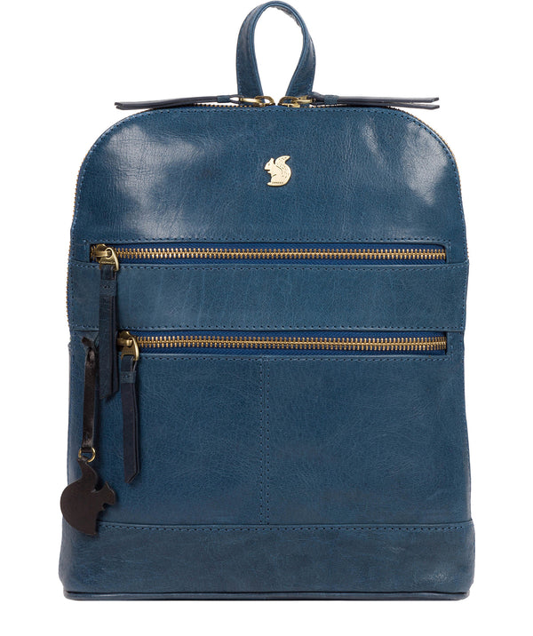 'Francisca' Snorkel Blue Leather Backpack image 1