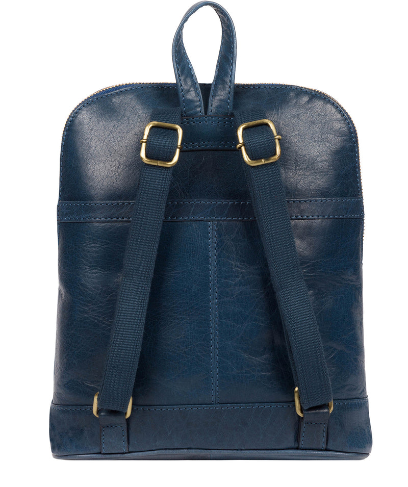 'Francisca' Snorkel Blue Leather Backpack image 3