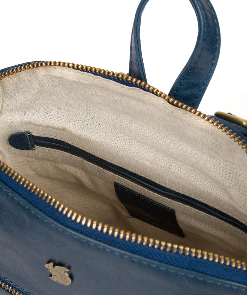 'Francisca' Snorkel Blue Leather Backpack image 4