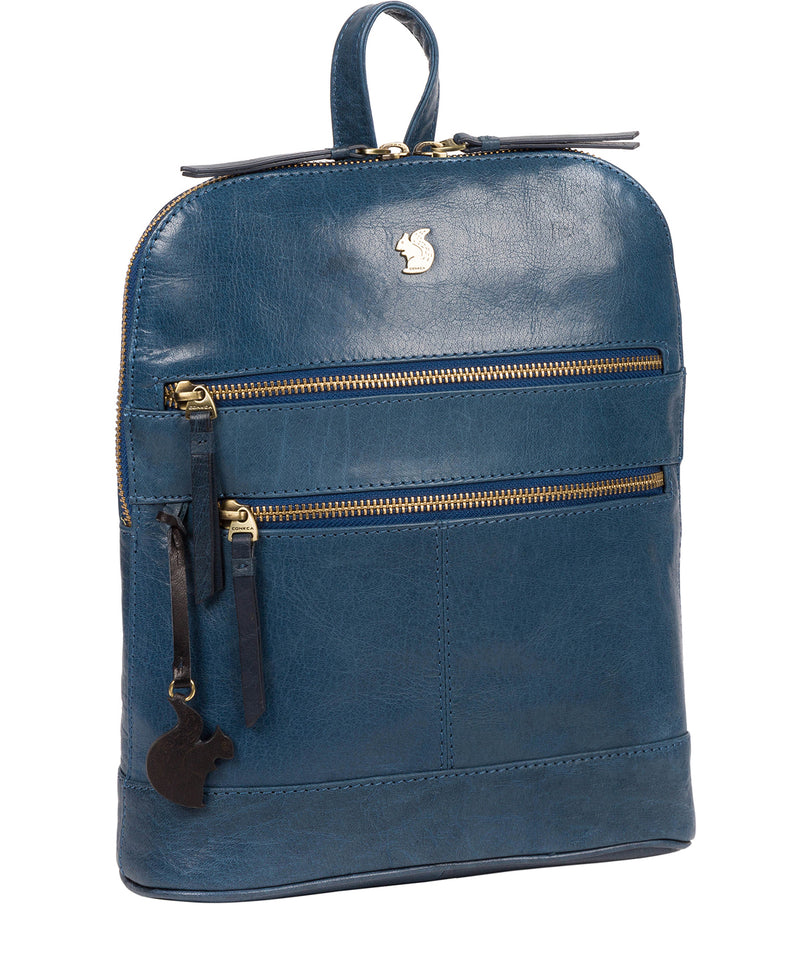 'Francisca' Snorkel Blue Leather Backpack image 5
