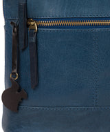 'Francisca' Snorkel Blue Leather Backpack image 7