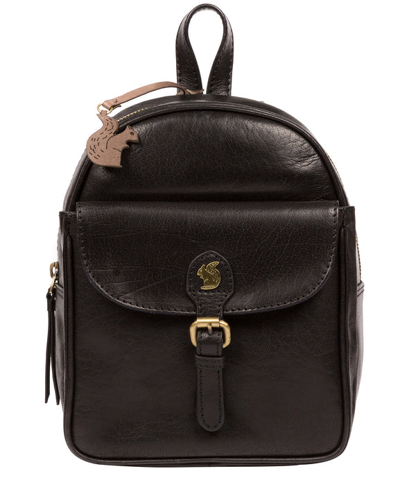 'Eloise' Black Leather Backpack image 1