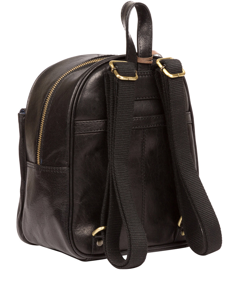 'Eloise' Black Leather Backpack Pure Luxuries London